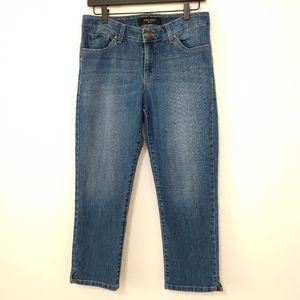 Nine West Cropped Jeans Mid Wash Size 8